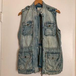 Lucky Brand denim vest vintage